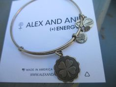 Authentic Alex & Ani Retired Good Luck Russian Silver Bangle