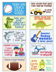 Over free printable back to school lunch box notes and jokes -guaranteed to make your kids laugh and smile at lunchtime all year long! Notes For Kids Lunches, Lunch Notes, Kids Lunch For School, School Snacks, School Fun, Back To School, Kid Lunches, School Days, Toddler Meals