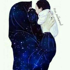 Mother's love is precious. Muslim Family, Muslim Couples, Love Cartoon Couple, Girl Cartoon, Girl Beach Pictures, Hijab Drawing, Islamic Cartoon, Islam Women, Anime Muslim