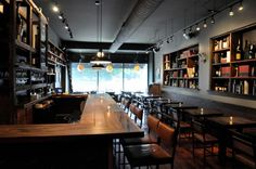 6 Haunted Spots around Chicago Where You Can Eat, Drink or Sleep with a Ghost: Webster's Wine Bar. Proof Bar, Wine Wednesday, Fine Dining, Restaurant Bar, Red Wine, Minimalist, Interior, Table, Room