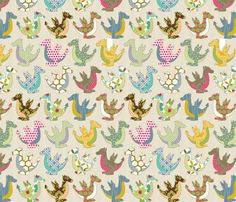 The colorful dragon fabric by fabgirl42 on Spoonflower - custom fabric