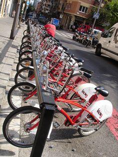 bicing bike share. barcelona