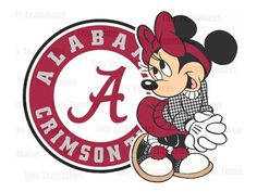 Minnie Loves the Alabama Crimson Tide