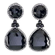 71carat Black Diamond Drop Earrings