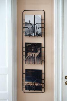 Now, wall-mounted magazine rack