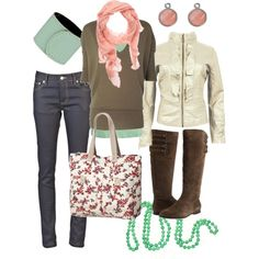 Love this outfit! I may do something else besides the white faux leather jacket, but this is such a great looking outfit. I'd so wear this.  :)