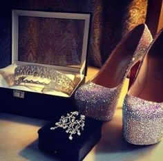 shoes, heels, and diamond image Diamond Image, High Heels, Shoes Heels, Sparkly Heels, Crystal Wedding, Luxury Beauty, Lady Luxury, Wedding Shoes, Dream Wedding