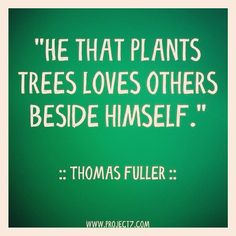 Plant trees. Love others.