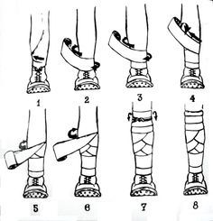 Viking Leg wraps seriously though since we are the Vikings I think our lax team should do this for games