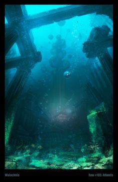 Ruine sous marine