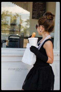 Audrey Hepburn/Breakfast at Tiffanys inspired photo shoot.  See more from this session at Photography by Crissy on facebook.