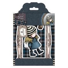 Gorjuss Santoro Tweed - The Friendly Hedgehog rubber stamp