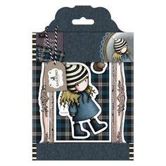Gorjuss Santoro Tweed - The Friendly Hedgehog rubber stamp