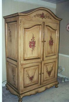 Beau Tv Armoire, Computer Armoire, Painted Armoire, French Armoire, Painted  Wardrobe, French Country Furniture, Armoires, Hand Painted, Painted Closet