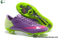 2013 New Nike Mercurial Vapor 10 FG Purple Pink Green Cristiano Ronaldo  Soccer Boots Soccer Shoes 85c2b353a37c4