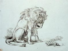 Lion and Tortoise - Eugene Delacroix