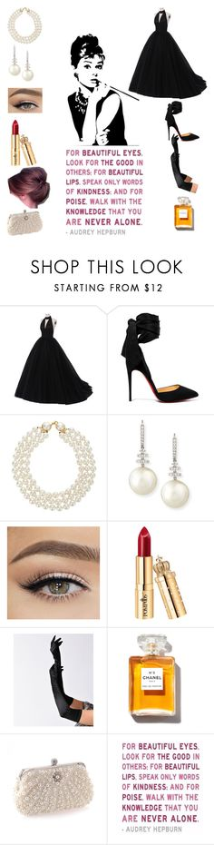 """""""Audrey💋"""" by kiwi01 ❤ liked on Polyvore featuring Christian Louboutin, Chanel and Belpearl"""