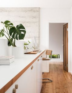 The Design Files Daily - Eco House Western Australia Western Bedroom Decor, Western Decor, Eames, Kitchen Arrangement, Rattan Stool, Hardwood Floor Colors, Casa Loft, Desk Inspiration, Interior Inspiration