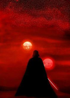 Darth Vader and the Binary Sunset? - Star Wars Stormtroopers - Ideas of Star Wars Stormtroopers - Darth Vader and the Binary Sunset? Star Wars Clone Wars, Star Wars Darth Vader, Anakin Vader, Darth Maul, Darth Vader Artwork, Anakin Skywalker, Star Trek, Images Star Wars, Star Wars Pictures