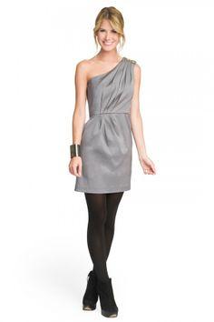 Silver Sensation One Shoulder Dress