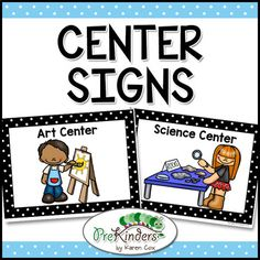 A set of center signs designed for early childhood: preschool and pre-k classrooms. Yes, these are EDITABLE! This is a zip file, which includes the PDF and a text editable PowerPoint file. Look at the preview to see every center sign included.