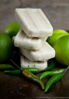 Coconut Lime Chili Pepper Popsicles