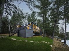 Cross-Laminated-Timber Cottage in Ladysmith, QC J0X, Canada by Kariouk Associates