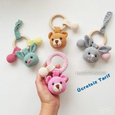 2019 All Best Amigurumi Crochet Patterns - Amigurumi Free Pattern The most admired amigurumi crochet toy models in 2019 are waiting for you in this article. The most beautiful amigurumi toy patterns are all on this site.Baby crochet teethers and paci Crochet Baby Toys, Crochet Patterns Amigurumi, Crochet Animals, Crochet Dolls, Knit Crochet, Crochet Fringe, Crochet Bunny, Free Crochet, Amigurumi Free