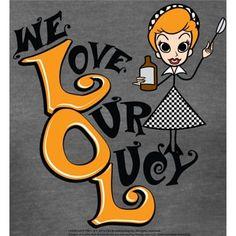 I Love Lucy Ladies We LOL Junior's Tri-Blend T-Shirt - Ash