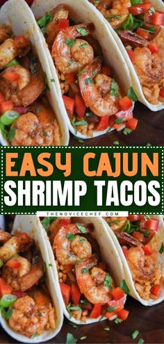 Cajun Shrimp Tacos are DELICIOUS! The combination of incredible flavors feels like you worked for hours on this game day meal. But thanks to a few time-saving tricks, this easy dinner is ready in under 30 minutes! Plus, the options for this simple recipe are endless! Cajun Shrimp Tacos Recipe, Shrimp Taco Recipes, Easy Family Meals, Easy Meals, Family Recipes, Sausage Jambalaya, Easy Dinner Recipes, Easy Recipes, Keto Recipes
