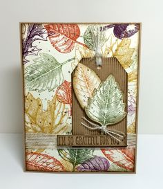 Quick & Easy Stamping: Vintage Leaves For Try Stamping On Tuesday #231
