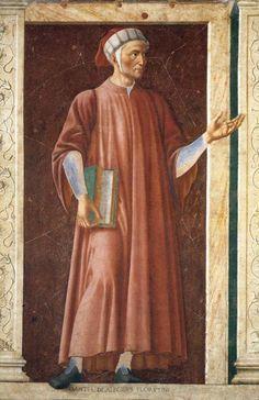 ANDREA DEL CASTAGNO Dante Alighieri (1450) Galería de los Uffizi, Florencia.