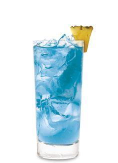 Pinnacle® Sherbet Colada 2 parts Pinnacle® Rainbow Sherbet Vodka 1 part Cruzan® Coconut Rum 1 part DeKuyper® Pucker® Island Blue Schnapps 3 parts pineapple juice