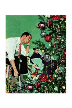 Trimming the Tree   by George Hughes  December 24, 1949