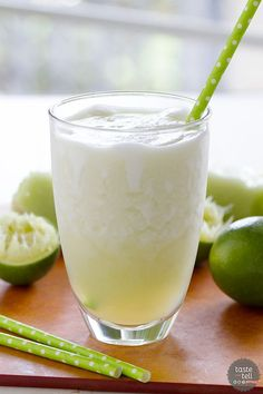 Perfect for summer, this Honeydew Lime Smoothie is sweet and a bit tart and full of melon flavor.