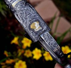 An Engraving Puzzle Tutorials and Contests - Hand Engraving Forum Side By Side Shotgun, Firearms, Shotguns, Metal Engraving, Saddles, Gravure, Weapons, Antiques, Tack