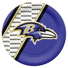 Baltimore Ravens Disposable Paper Plates