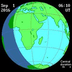 Animation of the Annular Eclipse of the Sun on 2016 September 01