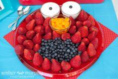An Elmo fruit tray!