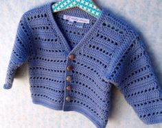 Crochet Baby Girl Sweater Swing Cardigan With by lesjardinsdevie
