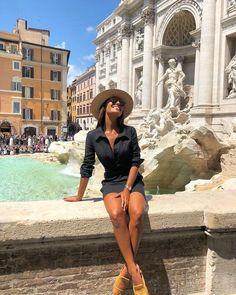 Make a wish ✨ Mas dessa vez só consegui agradecer. - Tracey D - Diy-urlaubsorte Rome Outfits, Italy Outfits, Fashion Outfits, Rome Travel, Italy Travel, Vacation Outfits, Summer Outfits, Europe Travel Outfits, Photography Poses