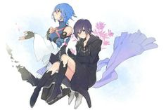Kingdom Hearts Aqua and Xion