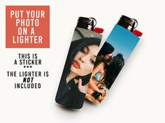 *** MESSAGE ME THE IMAGE YOU WANT TO SEE ON THE STICKER *** Transform your ordinary lighter, and give it a whole new meaning. Every sticker is rectangle (6.8 x 7 cm), covering the whole lighter completely. The lighter is NOT included with your order. Every vinyl sticker is glossy,