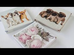 Video Aula: Caixa Chic com flores Decoupage Vintage, Decoupage Box, Diy Videos, Painting On Wood, Painted Furniture, Chicano, Stencils, Diy And Crafts, Decorative Boxes