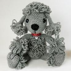 Pandora the poodle amigurumi crochet pattern by Janine Holmes at Moji-Moji Design Toy Poodle Red, Small Poodle, Crochet Dog Patterns, Amigurumi Patterns, Knitting Patterns, Crochet Ideas, Crochet Amigurumi, Crochet Dolls, C2c Crochet