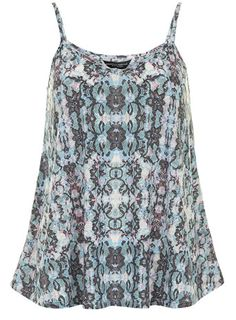 Tall Multi colour lace print cami - Camis - Tops & T-Shirts  - Clothing