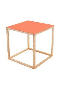 Orange Cubo Table