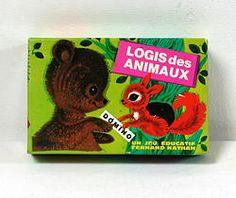 Domino Logis des animaux, Fernand Nathan vintage 1972