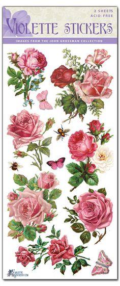 Hermosa Vintage caliente Pinkr rosa pegatinas para fabricar 2