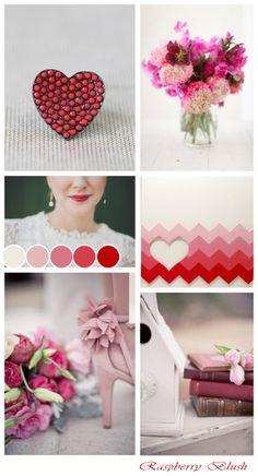 Raspberry Blush  ~ Wedding Inspiration Board ~ Valentines